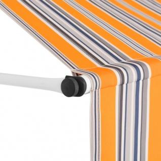 vidaXL Einziehbare Markise Handbetrieben 250 cm Gelb/Blau Gestreift - Vorschau 3