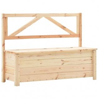 vidaXL Sitzbank mit Stauraum 120 cm Massivholz Kiefer