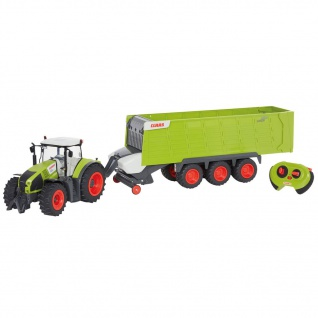 CLAAS Ferngesteuerter Traktor mit Anhänger AXION870 & CARGOS9600 1:16