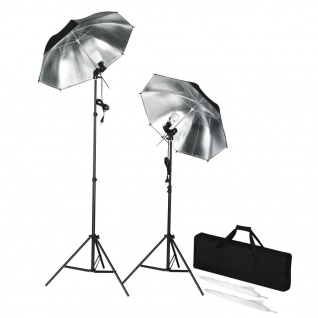 Tragbares Studiobeleuchtung-Set mit Stative & Schirme