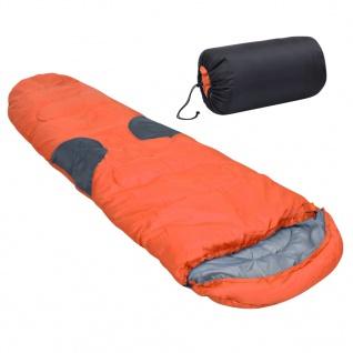 vidaXL Schlafsack Orange -5? 2000g