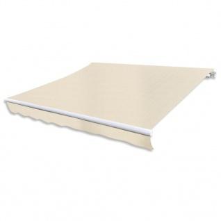 vidaXL Markisenstoff Sonnenschutz Cremefarben 3×2, 5 m (ohne Rahmen)
