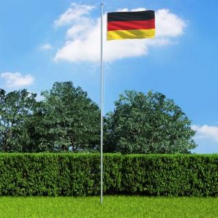 vidaXL Flagge Deutschlands und Mast Aluminium 6, 2 m