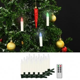 vidaXL Kabellose LED-Weihnachtskerzen mit Fernbedienung 20 Stk. RGB