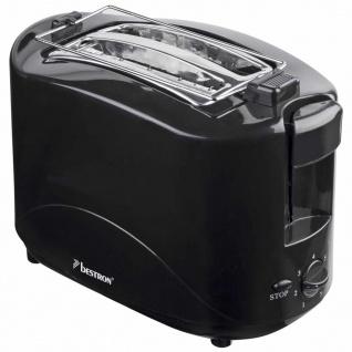 Bestron Toaster 750 W Schwarz AYT600Z