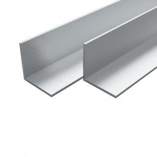 vidaXL Aluminium-Winkelprofile 4 Stück L-Profil 2 m 15x15x2 mm