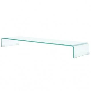 vidaXL TV-Tisch/Bildschirmerhöhung Glas Transparent 110x30x13 cm