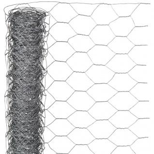 Nature Sechseckgeflecht 1x10 m 40 mm Verzinkter Stahl