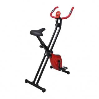 vidaXL Magnetischer Heimtrainer X-Bike mit Pulsmessung Schwarz Rot