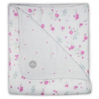Jollein Babydecke Musselin Blüten 75x100 cm Rosa 521-511-65058