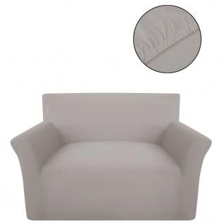 Sofahusse Sofabezug Stretchhusse Beige Baumwoll-Jersey