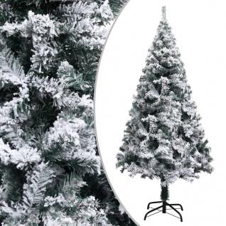 vidaXL Künstlicher Weihnachtsbaum Beschneit Grün 150 cm PVC