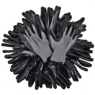 vidaXL Arbeitshandschuhe Nitril 24 Paar grau und schwarz Gr. 9/L - Vorschau 4