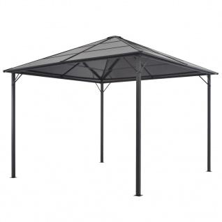vidaXL Gartenpavillon mit Dach Aluminium 3×3 m Schwarz