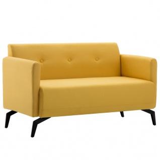 vidaXL 2-Sitzer-Sofa Stoffbezug 115 x 60 x 67 cm Gelb