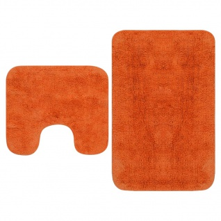 vidaXL Badematten-Set 2-tlg. Stoff Orange