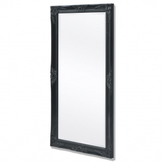 vidaXL Wandspiegel im Barock-Stil 120x60 cm Schwarz
