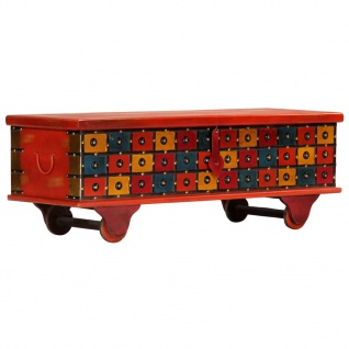 vidaXL Aufbewahrungstruhe Rot 110 x 40 x 40 cm Massivholz Akazie - Vorschau 3
