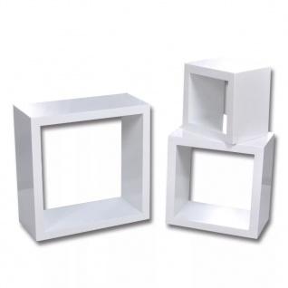 Dekorative Würfelregal Wandregal (3er Set) Weiß - Vorschau 2