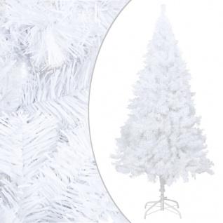 vidaXL Künstlicher Weihnachtsbaum mit Dicken Zweigen Weiß 210 cm PVC