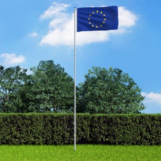 vidaXL Europaflagge und Mast Aluminium 6 m