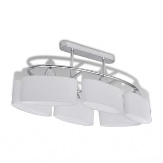 vidaXL Deckenlampe mit ellipsenförmigen Glasschirmen 4 Stk. E14 - Vorschau 4