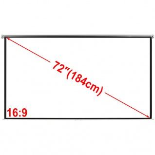 Manuelle Projektionswand Leinwand 160x90cm 16:9 Wand-Deckenhalterung