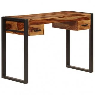 vidaXL Schreibtisch mit 2 Schubladen 110x50x77 cm Sheesham-Massivholz