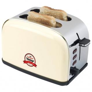 Bestron ATS100RE Toaster mit Brötchenaufsatz 1050 W cremefarben