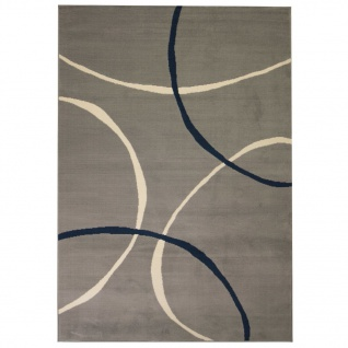 vidaXL Teppich Modern Kreise 160 x 230 cm Grau