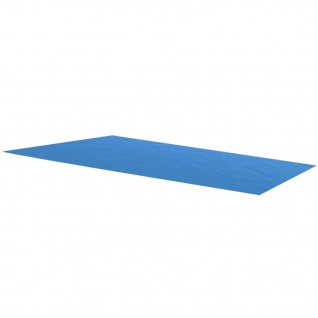 vidaXL Poolabdeckung Blau 975×488 cm PE