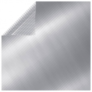 vidaXL Rechteckige Poolabdeckung 800x500 cm PE Silbern