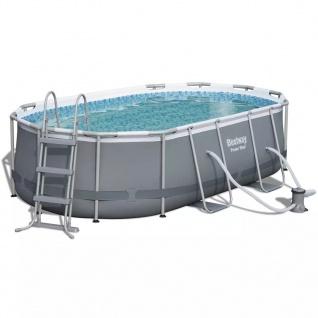 Bestway Pool-Set Levant Oval Grau 424x250x100 cm 56620