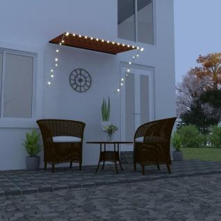 vidaXL Einziehbare Markise mit LED 200×150 cm Orange und Braun