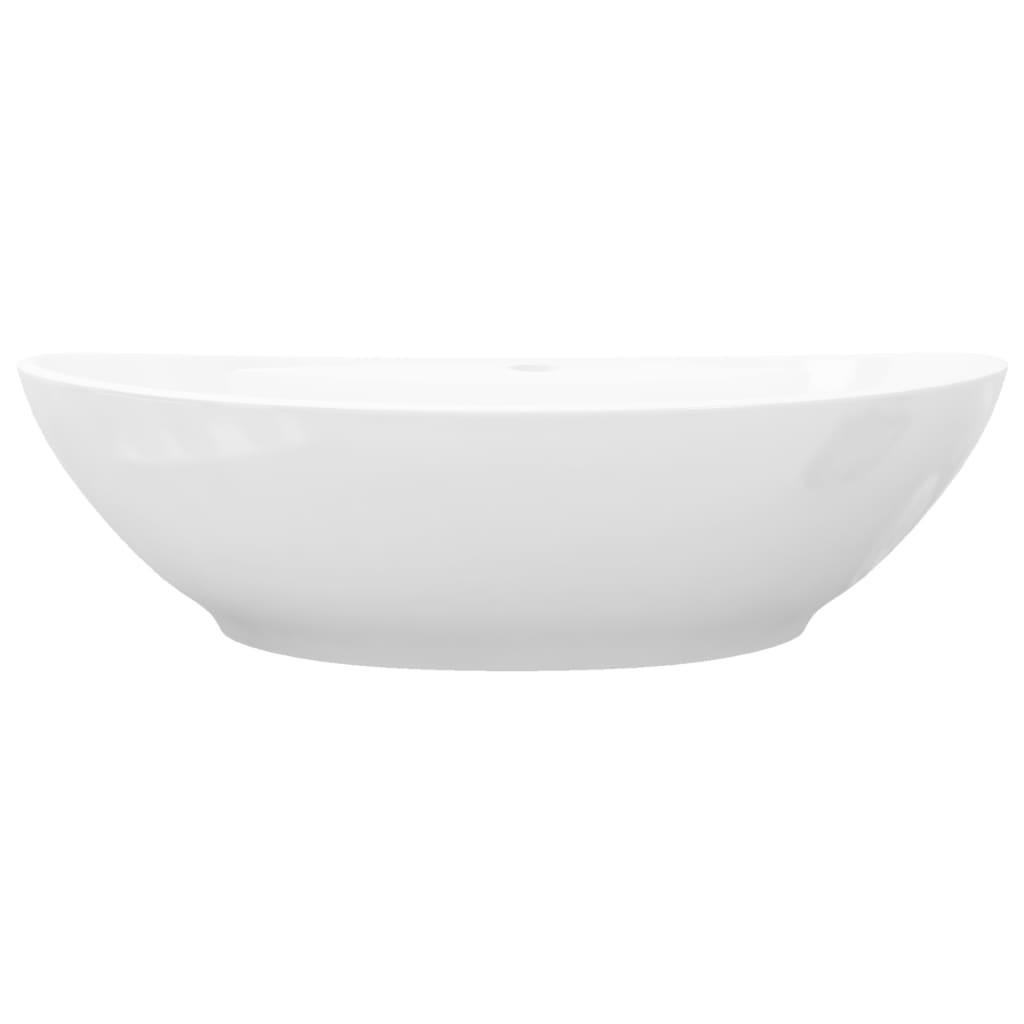 Luxurioses Keramik Waschbecken Oval Uberlauf 59 X 40cm Kaufen