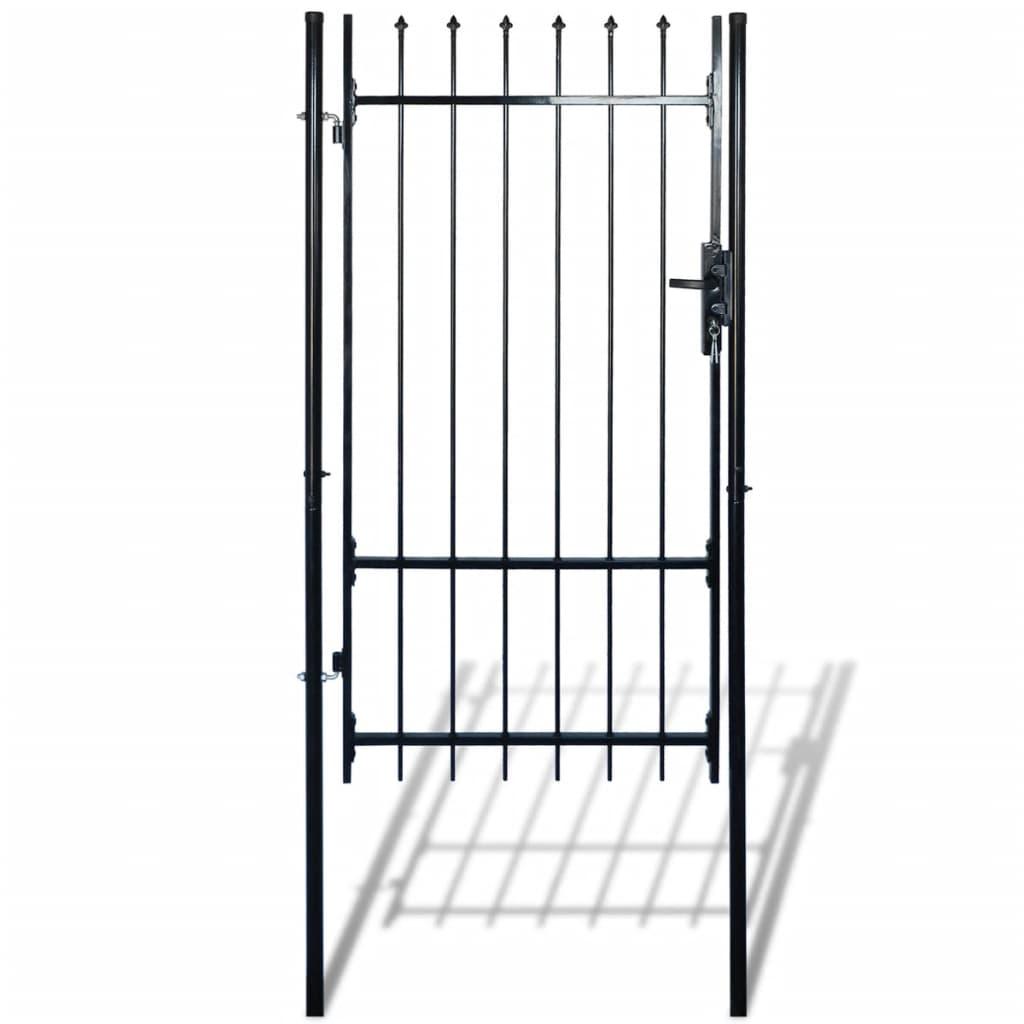 Einzelnes Zauntor Tür mit Speer Spitze 100 x 175 cm