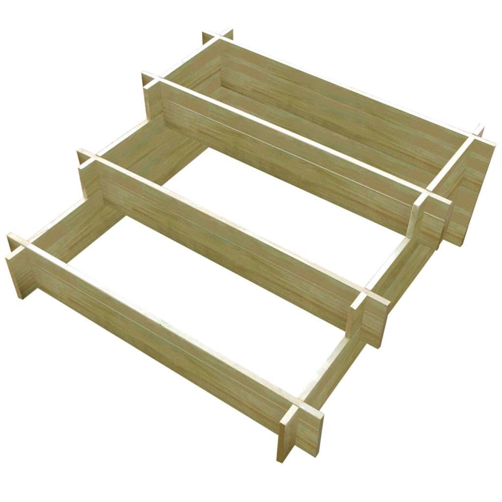 Vidaxl Pflanzkasten Aus Impragniertem Holz 3 Etagig 90 90 35 Cm