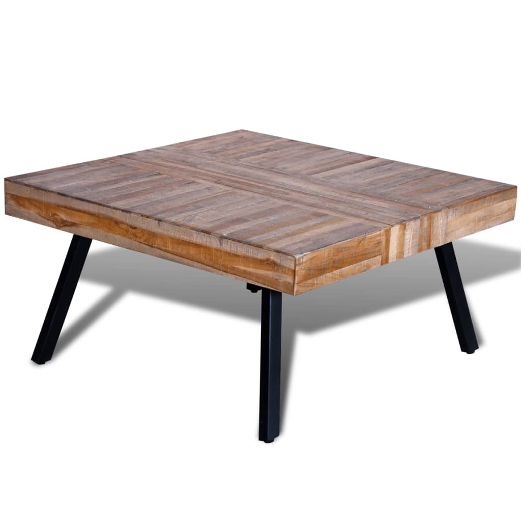 Vidaxl Couchtisch Quadratisch Recyceltes Holz Teak Kaufen Bei Vida