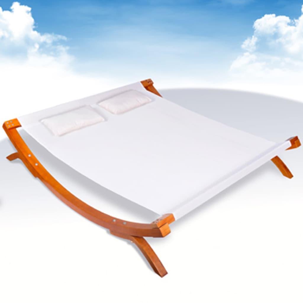 Doppel sonnenliege holz  vidaXL Doppel-Sonnenliege Holz Weiß 200 x 188 x 42 cm - Kaufen bei ...