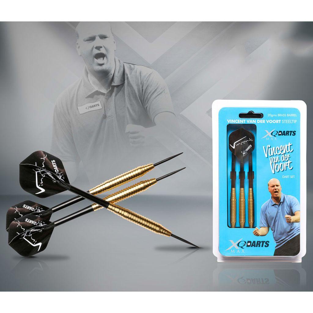 XQmax Darts 3er Dartpfeil-Set Pfeile Dartpfeile BvdP 21g 100% Messing QD1000290# Spielzeug für draußen