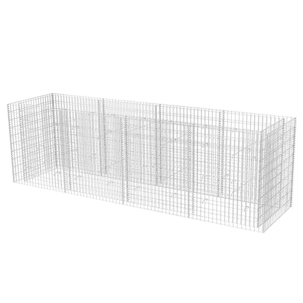VidaXL Gabionen-Pflanzkorb Stahl 360 x x x 90 x 100 cm 3b5003