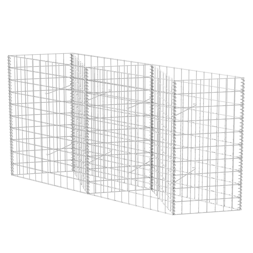 vidaXL Gabionenkorb Pflanzkasten Gemüse-Hochbeet Gabione Stahl 300×30×100 cm