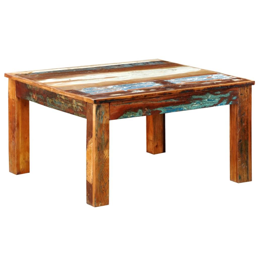 Vidaxl Couchtisch Quadratisch Recyceltes Holz Kaufen Bei Vida Xl