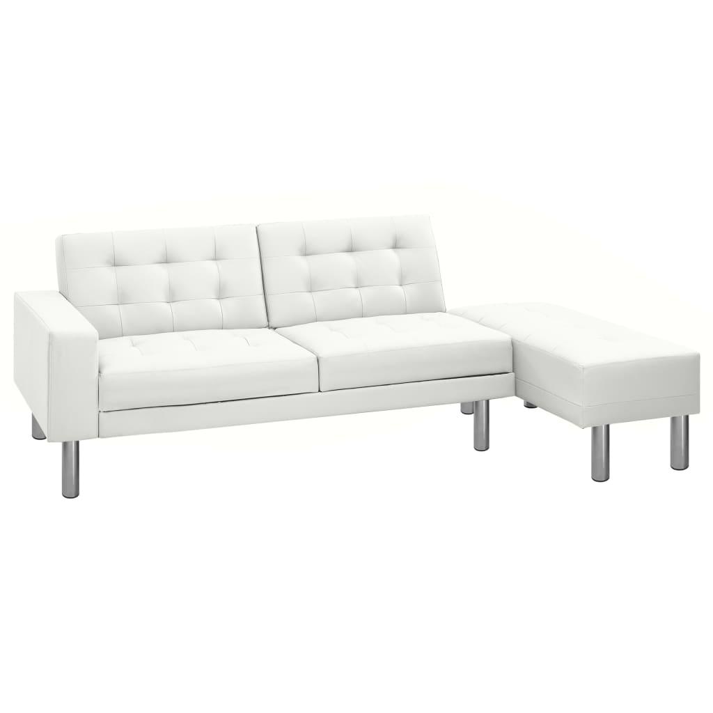 vidaxl schlafsofa kunstleder wei kaufen bei vida xl europe b v. Black Bedroom Furniture Sets. Home Design Ideas