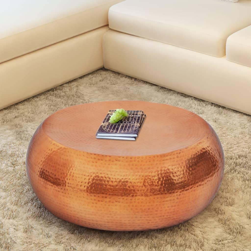 Kupfer Farbe couchtisch beistelltisch aus gehämmertem aluminium messing