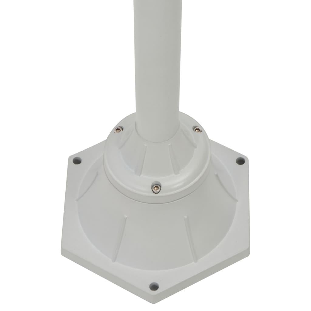 VidaXL VidaXL VidaXL Garten-Pollerleuchte E27 220 cm Aluminium 2-Laterne Weiß 3bf89f