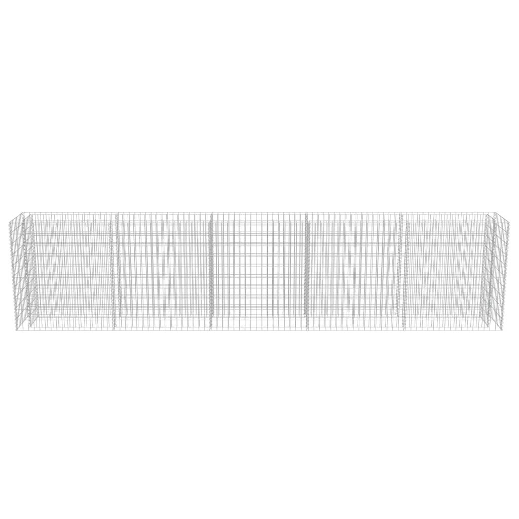 VidaXL Gabionen-Pflanzkorb Gabionen-Pflanzkorb Gabionen-Pflanzkorb Verzinkter Stahl 450×50×100 cm 322a2d
