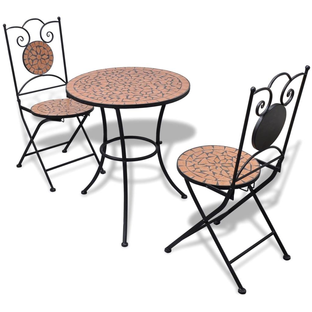Vidaxl Garten Bistro Set Mosaik Stuhle Tisch 60 Cm Terrakotta