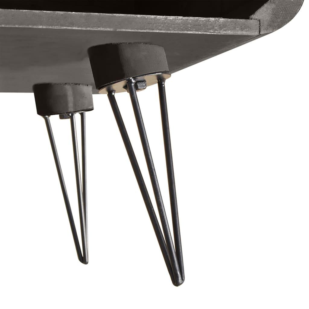 vidaXL Couchtisch Grau 90×55, 5×38, 5 cm Holz