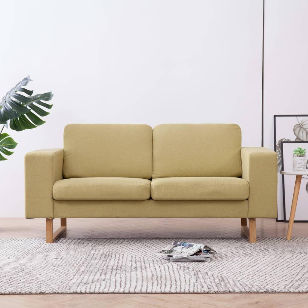vidaXL 2-Sitzer-Sofa Stoff Grün - Kaufen bei Vida XL ...